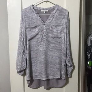 Black Rainn Gray and White Blouse